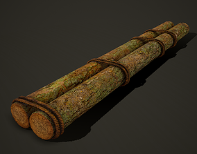 Tied Logs with Rope 3D