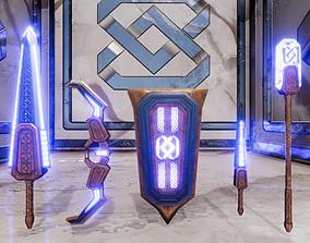 Ichka Fantasy Weapon Set 3D model