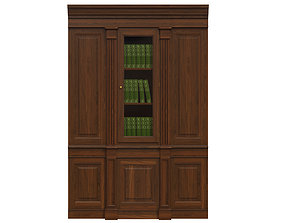 Built-in bookcase 500 3D