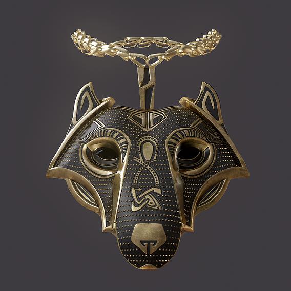 Viking Wolf Pendant