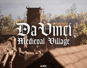 3D model Da Vinci - Medieval Village - All Formats