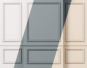 3D model Wall molding 11 Boiserie classic panels