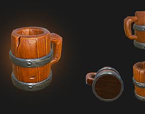 Wooden Beer Mug 3D model