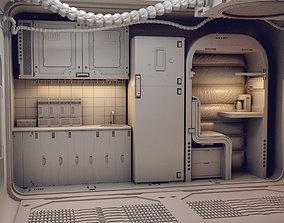 3D model scifi shatle room