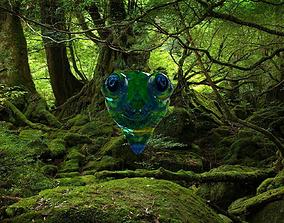 A lizard head 3D