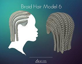Braid Hairstyle 06 3D printable model