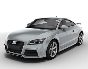 Silver Audi TT RS Coupe 2010 3D model