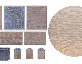 4K Egypt Pack Tombs Sculptures Modular Desert 3D model 1