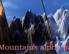 Mountains and rocks alpha maps pack and support maps 3D