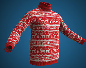 3D model game-ready Christmas sweater