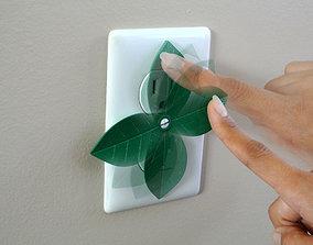 Leaf shaped outlet cover 3D printable model