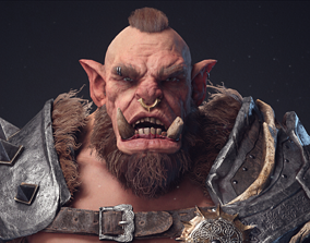 3D model animated Orc warrior