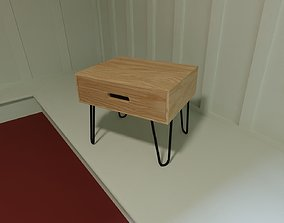 3D model Table - small birch coffee table