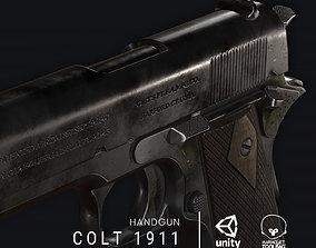 Colt 1911 3D asset VR / AR ready