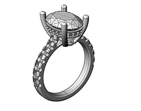 Diamonds Engagement Ring 3D print model