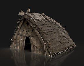 Viking Norseman House Cottage Hut Cabin Village 3D asset 2