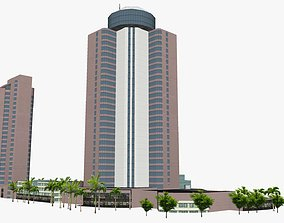 Crowne Plaza Hotel 3D model