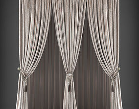 low-poly Curtain 3D model 233