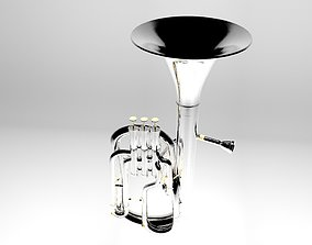 animated Besson Althoorn Brassinstruments 3d model