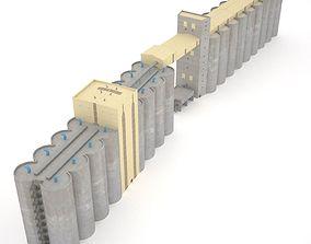 Grain silos - 03 3D