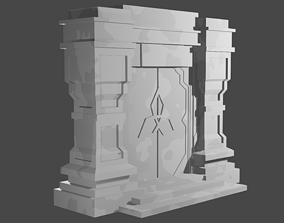 3D printable model Genshin Impact Temple Gate 3d