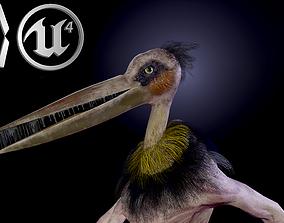 3D model animated Bird mutant