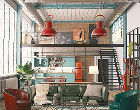 3D Industrial loft