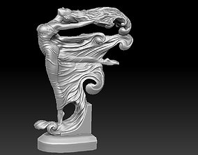 two goddess decoration on the 3D print model