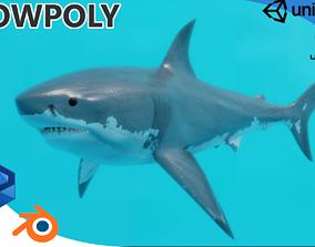 Great White Shark 3D asset rigged