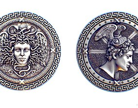 Perseus and Medusa Gorgona 3D print model