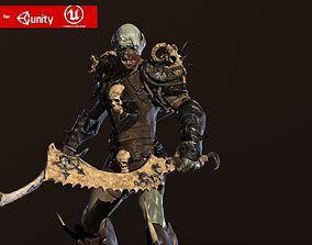 3D asset Monster berserker 3