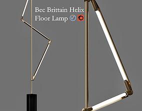 Bec Brittain Helix Floor Lamp 3D model