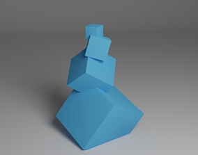 Abstract Stacked Cube Desktop Art 1 3D printable model