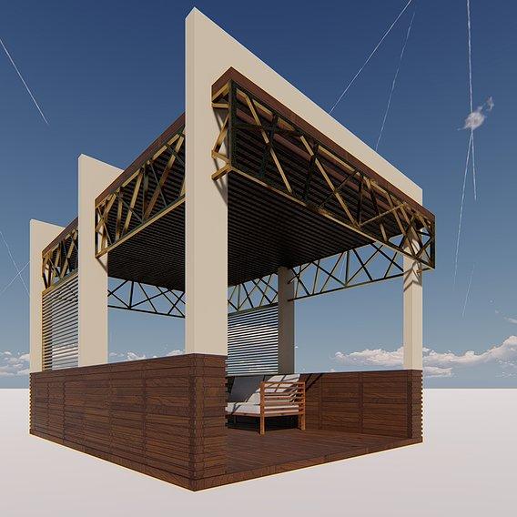 Pargola terrace deesign and visualization