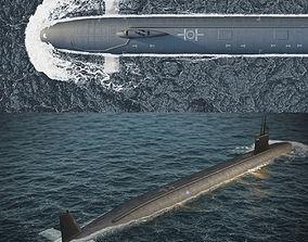 Virginia submarine 3D asset