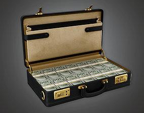 Cash Filled Briefcase BHE - PBR Game 3D asset