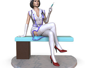 doctor in a dressing gown 3D print model