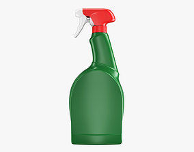 Spray Detergent Bottle 3D asset