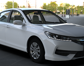 3D model Honda Accord 2016-2017 Standards HQ INTERIOR