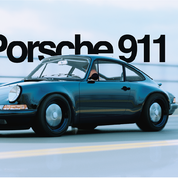 Renders for a 911 3d Free Model
