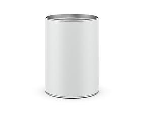 Cardboard tin can 3D model