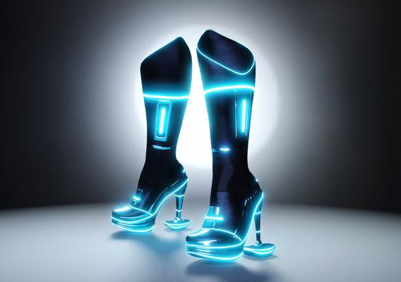 Female Boots Sci-Fi High Tech