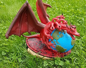 3D print model Dragon on the earth