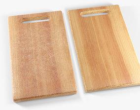 Wooden chopping board 3D asset