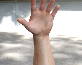 3d model Male hand realtime