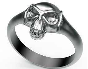fashion 3D print model Ring Skull and Bones