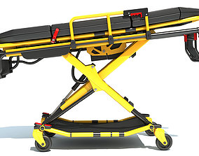 3D model Ambulance Stretcher Trolley medical