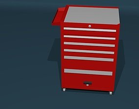 Red toolbox 3D