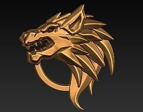 3D print model wolf emblem