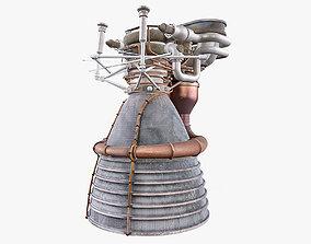 F1 Rocket Engine 3D